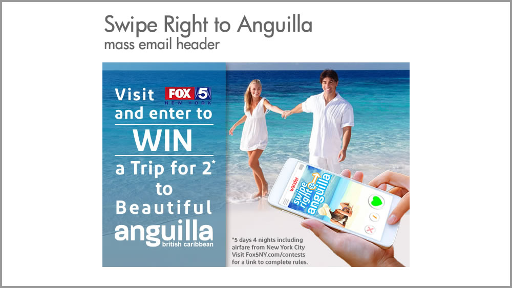 Swipe Right to Anguilla email campaign
